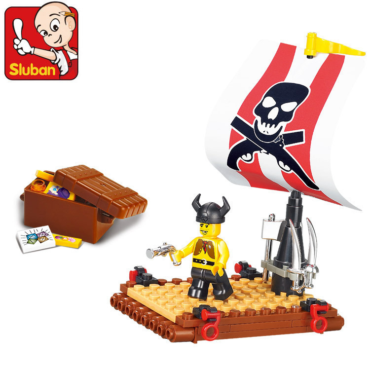 No Original Box SLUBAN Pirates of Caribbean series Searching for treasure&education DIY enlighten building blocks sets for child(China (Mainland))
