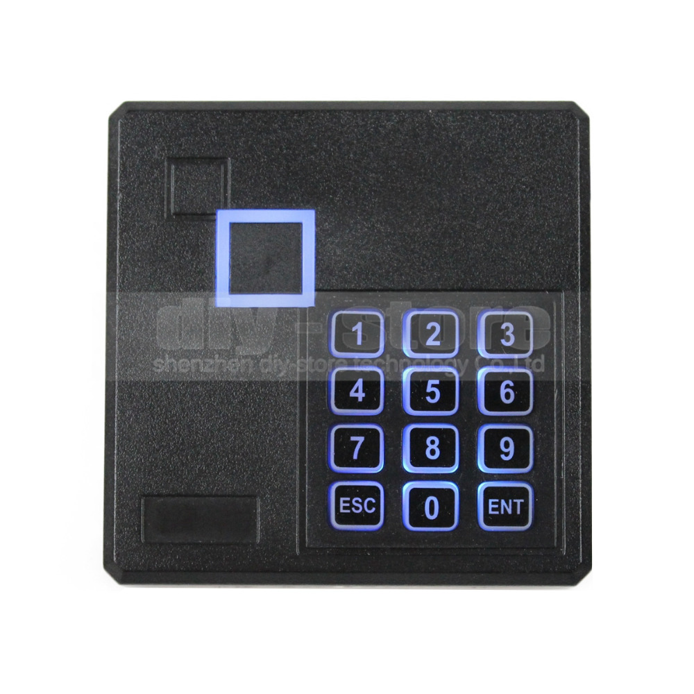 Black Waterproof 125KHz ID Card Reader Wiegand 26 Access Control Keypad RFID Reader 103A(China (Mainland))
