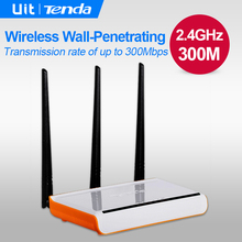Tenda W304R v5 300Mbps Wireless WiFi Router, 3 Antenna 5dbi Home Wi-Fi Repeater, 4 Ports RJ45 802.11g/b/n, English Firmware(China (Mainland))