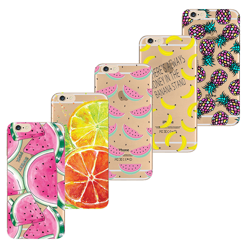 SE Soft TPU Cover For Apple iPhone SE Case Cases Phone Shell Painted Variety Of Fruit Combinations Popular Hot !!(China (Mainland))
