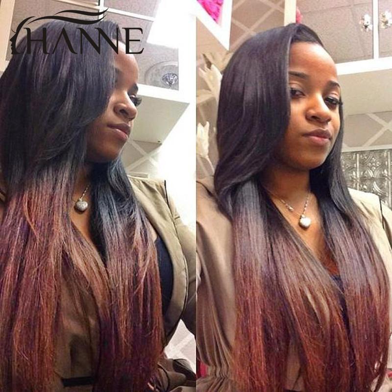 Ombre Brazilian Straight Hair 3 Bundles Dark Brown Ombre