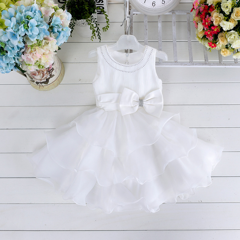 2015 New style r girl's dress flower girls layered party princess