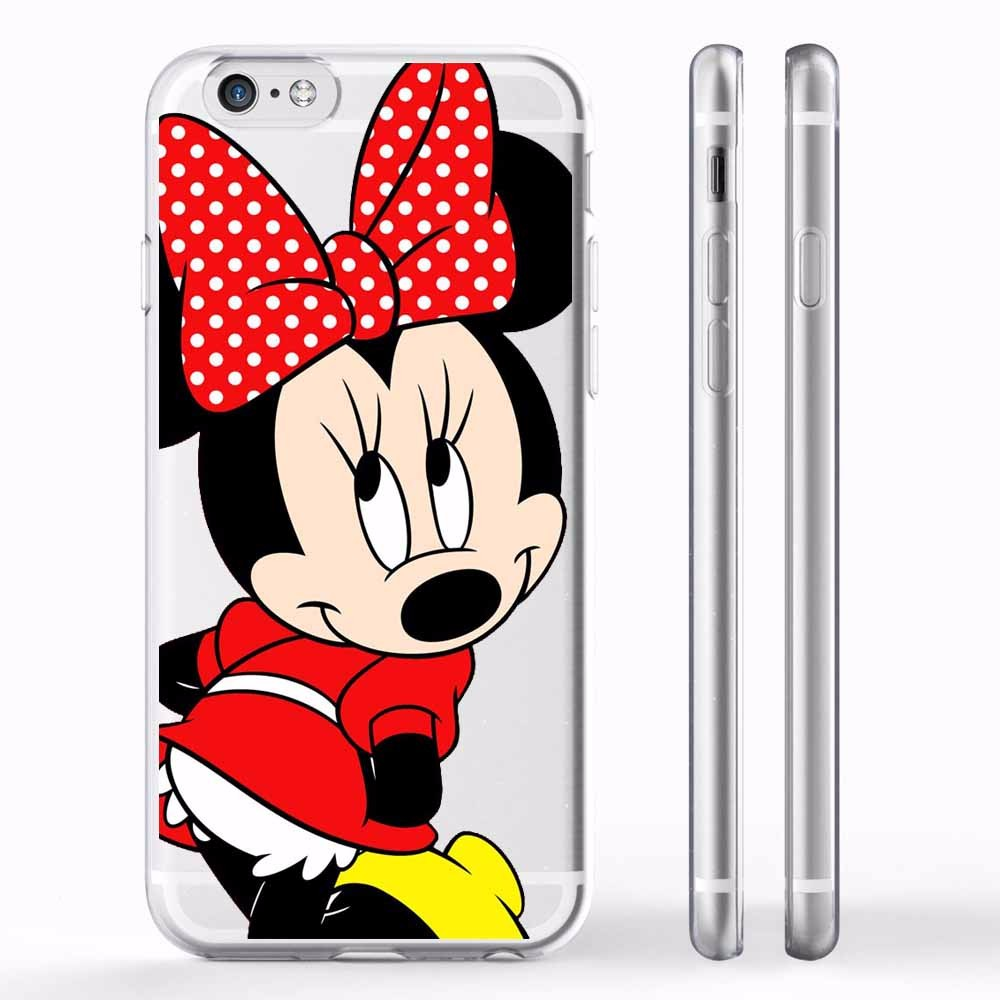 New fashion Cute Mickey Mouse Soft silicone TPU Case For apple iPhone 5 5S 6 6S 6S Plus 7 7Plus Mickey and Minnie Cases