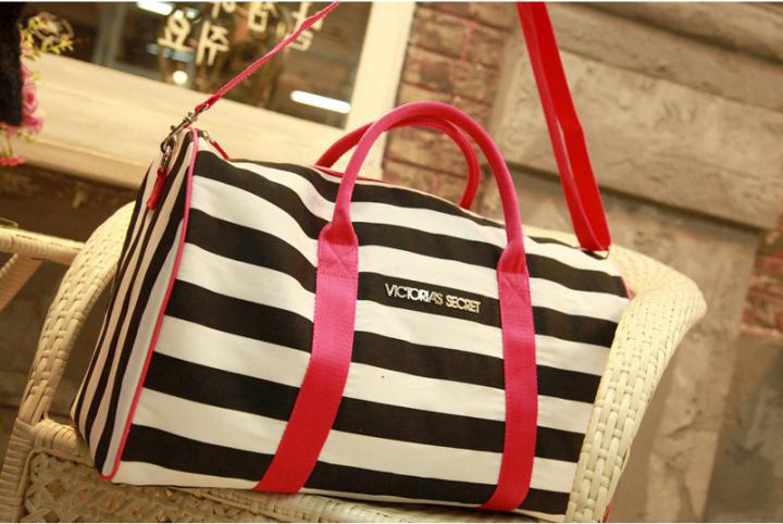 New Arrival Famous Brand Strip Canvas Travel Duffle Backpacks Bags(China (Mainland))