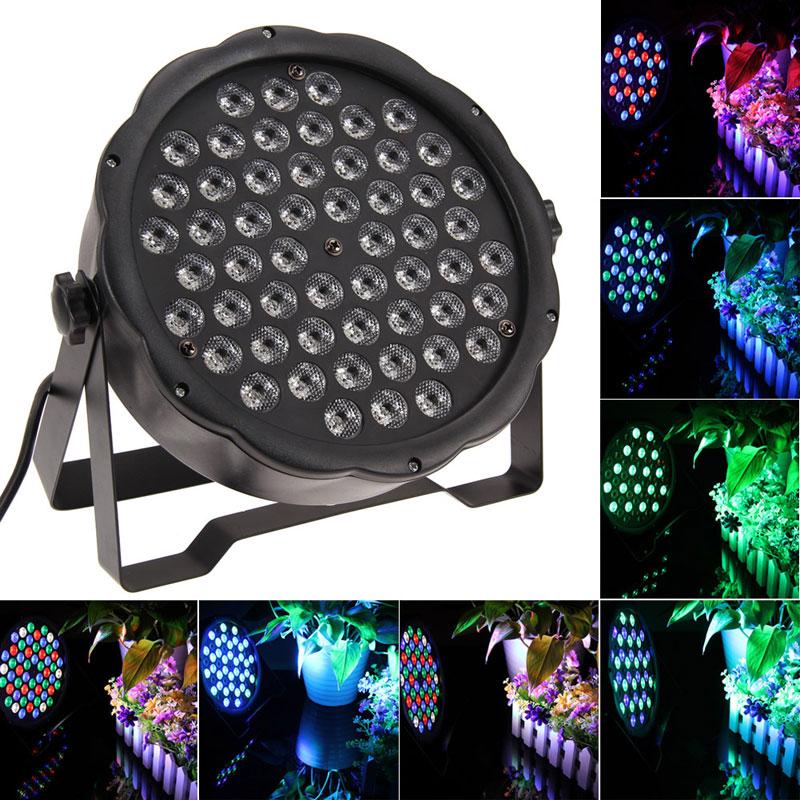 EU Plug 54 RGBW LED Par Light DJ Dance Party Stage Lighting Stage 9CH LED Par 64 Lighting for Party Show(China (Mainland))