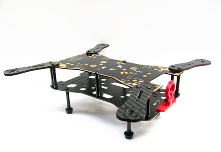 ATG QAV280 four axis fpv folding rack PCB parallel circuit board with 3K frame lines mixed carbon plate<br><br>Aliexpress