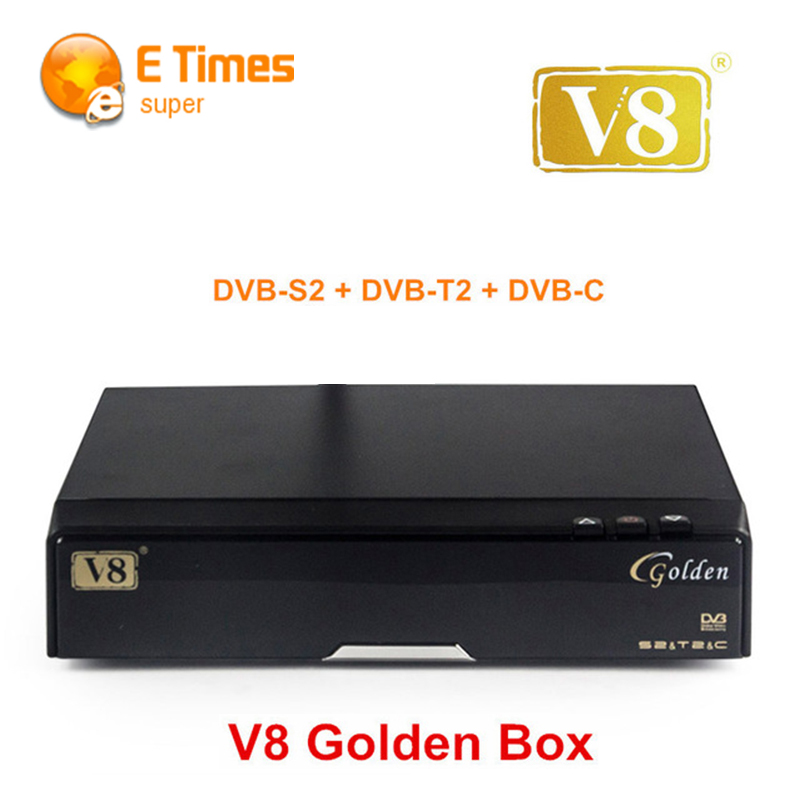 V8 Golden HD COMBO decoder Satellite TV Receiver DVB-S2 + DVB-T2 Twin Tuner DVB-Cable Support CCcam NEWcamd Multi-CAS Google map(China (Mainland))