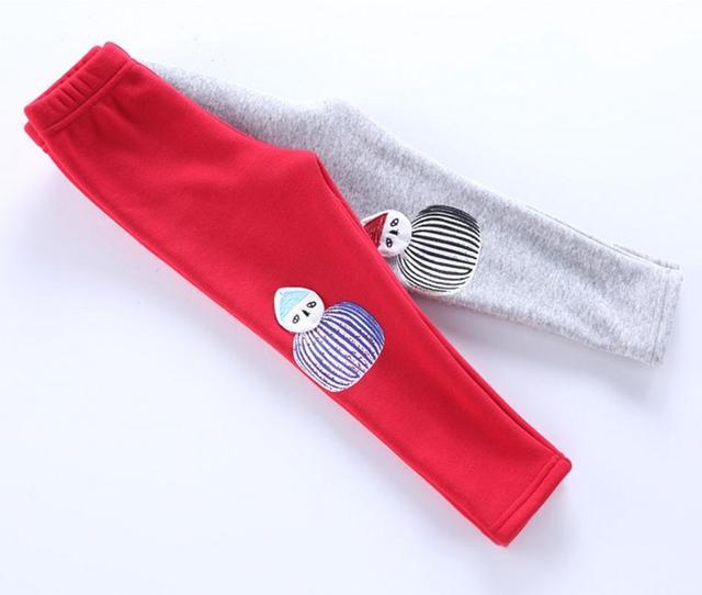 Зима теплая девушка меховые гетры детской рождественский снеговик брюки дети девушки теленка брюки