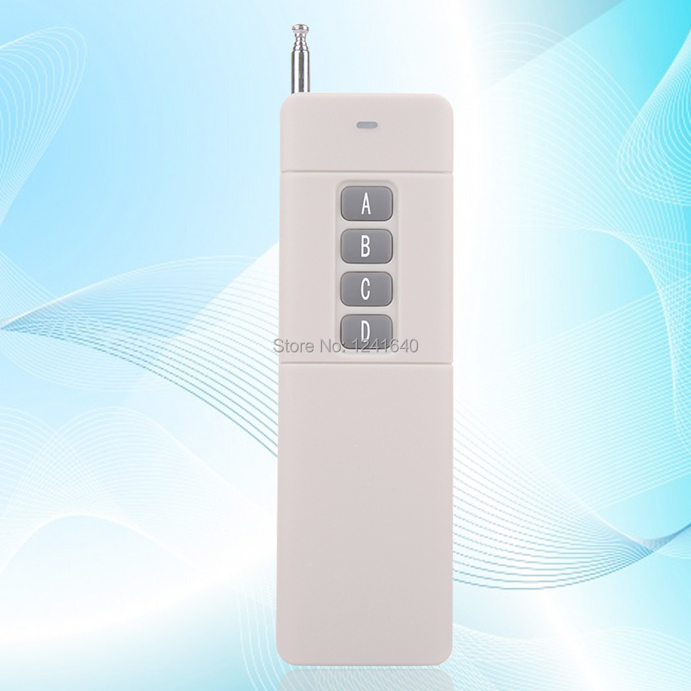 New Practical 433MHz 3000m 4 Buttons High Power Wireless Remote Control(China (Mainland))