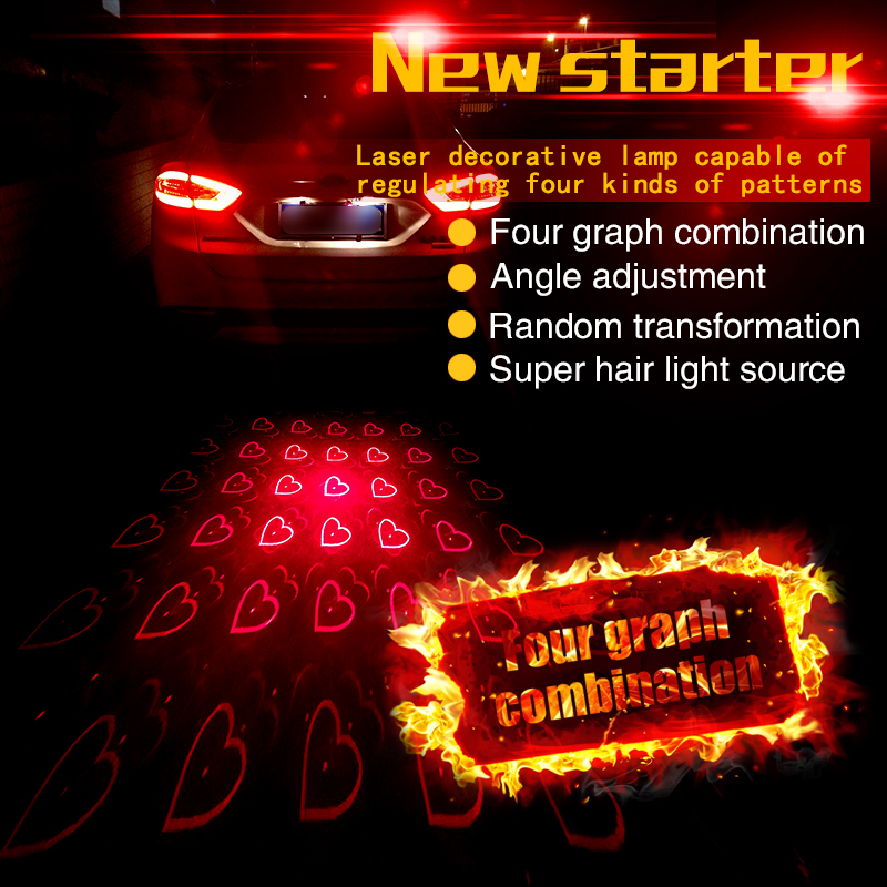 New Car Styling Motorcycle Anti Collision Rear end Car Laser Tail Car Led Fog Light Convertible Patterns Parking Warning Light(China (Mainland))