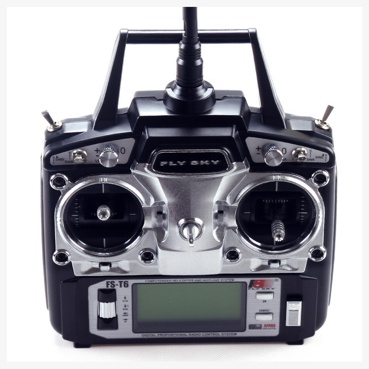 FS FlySky FS-T6 FS T6 2.4G Remote Control Radio 6 Channels Transmitter &amp; Receiver w/ LED Screen gopro hero3<br><br>Aliexpress