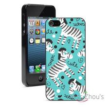 Cute Zebras Protector back skins mobile cellphone cases for iphone 4/4s 5/5s 5c SE 6/6s plus ipod touch 4/5/6