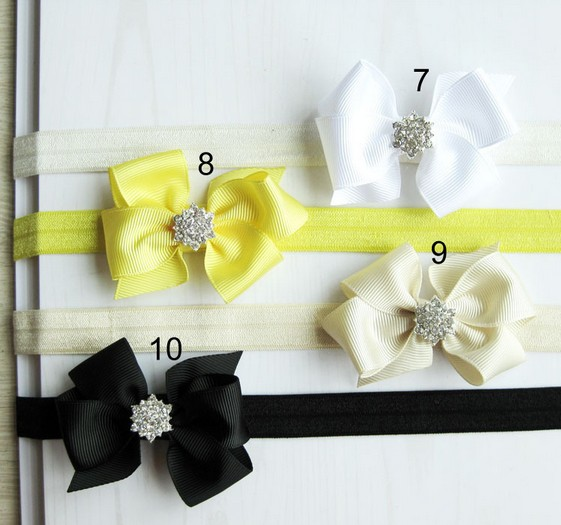 Free Shipping New Style Chiffon Bow Headband Baby Girls Flowers Headbands Kids Hair Accessories Baby Christmas