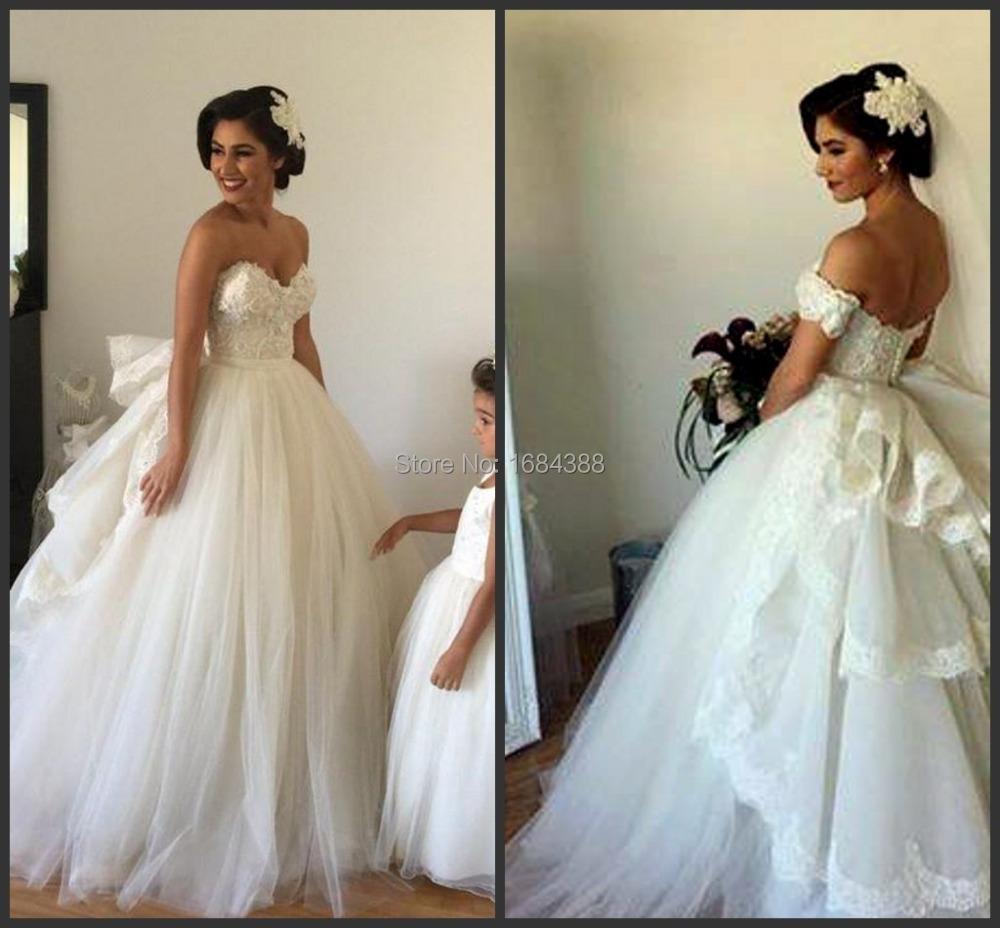 Grandes vestidos de novia mullidas