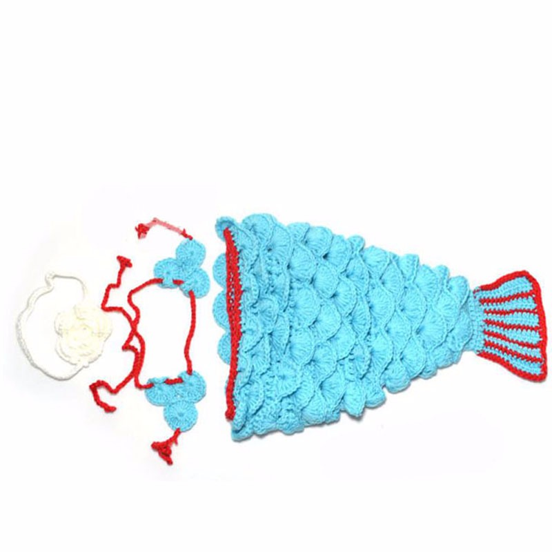 Newborn-Baby-Crochet-Mermaid-Tail-Photography-Props-Girl-Toddler-Mermaid-Costume-Outfits-Handmade-Cocoon-SG025 (1)