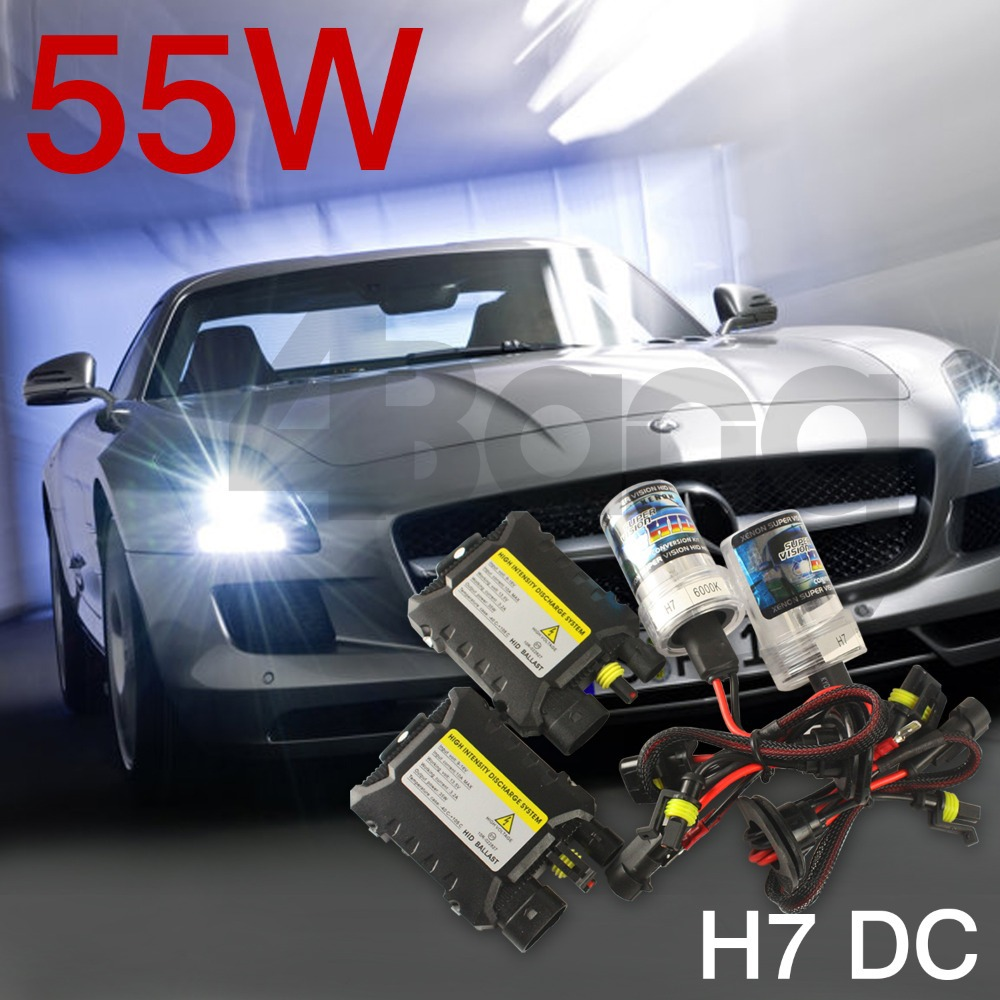 Xenon HID KIT H7 H9 H10 H11 4300k 5000k 6000k 8000k 12000k White Blue Color Xenon Bulbs 55W Digital DC Slim ballast 12V(China (Mainland))