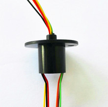 12.5mm 300Rpm 6 Wires 6 Conductors Capsule Slip Ring 240V AC for Monitor Robotic A-Type(China (Mainland))
