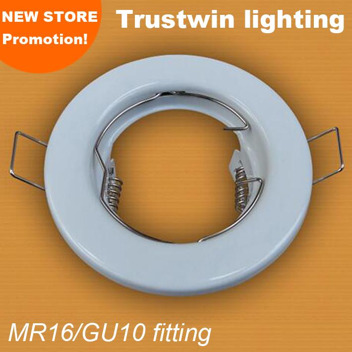 White ceiling Round rings E27 light bulb fitting kit lamp Iron case LED gu10 mr16 spotlight led Fixture holders(China (Mainland))
