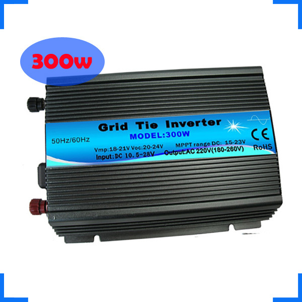 Free Shipping ( 1 Piece Sale) 110V/220V 300W Grid Tie Inverter / Microinverter with Pure Sine Wave For Wind and Solar System(China (Mainland))