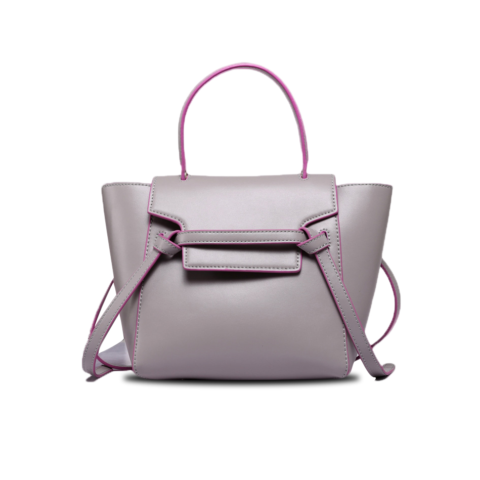 Women Shoulder Bags Genuine Leather Female Handbag Fashion Trapeze Bags Brand Designer Messenger Bags Bolsas Femininas RD-040