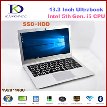 "Core i5 5th Gen. CPU Laptop, 13.3"" Notebook Computer, 8GB RAM, 256GB SSD+1TB HDD, 1920*1080 HDMI, 8 Cell Battery, Windows 7/8/10(Hong Kong)"