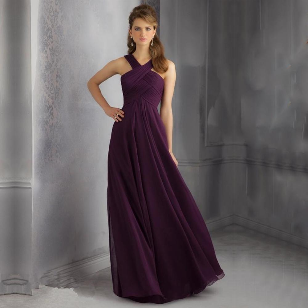 Vestidos de dama de honor púrpura