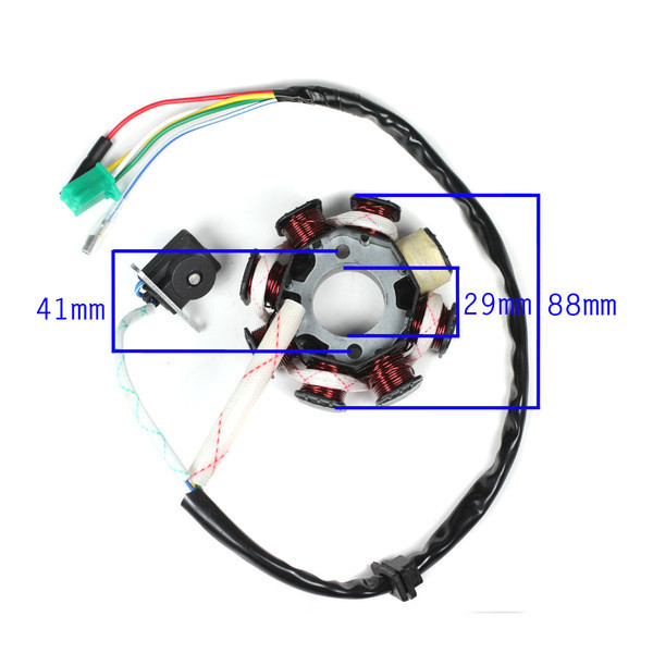 8 Coil Poles Ignition Stator Rotor Magneto for font b GY6 b font 125CC 150CC Engine