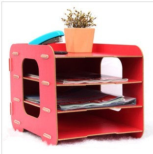 Office stationery storage box wool data frame file holder diy magazine rack 1002(China (Mainland))