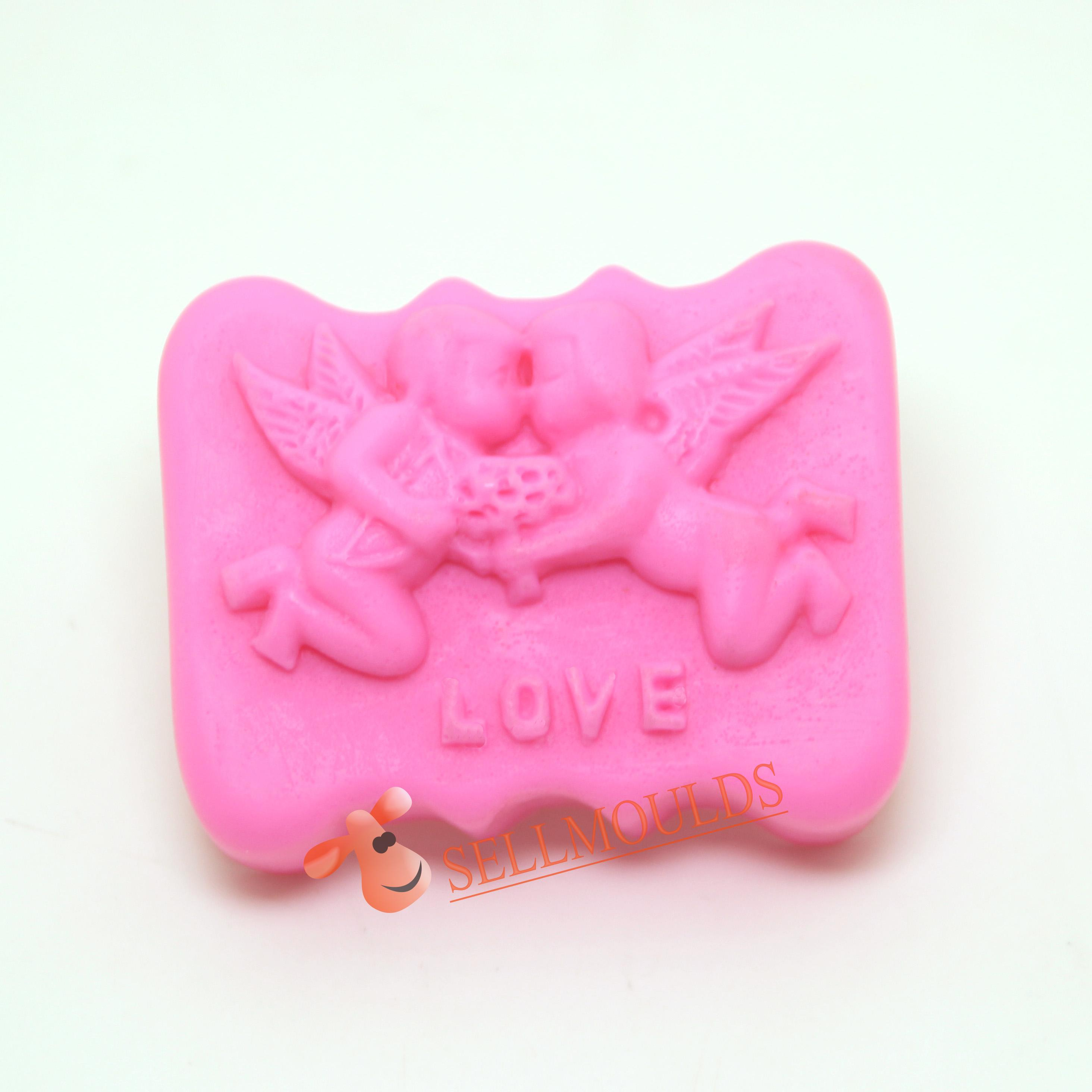 Cake Decoration Molds : 2015 love angel soap molds silicone wedding mould cake ...