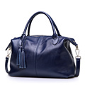 PASTE Famous Brand Pure Genuine Cow Leather Tassel Tote Bags Lady Casual Messenger bags Luxury cowleather