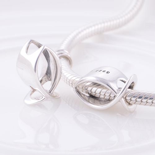 Аутентичные стерлингового серебра 925 бусины рыбы дизайн европейский шарм женщины ювелирные изделия DIY подходит Chamilia браслет бесплатная доставка