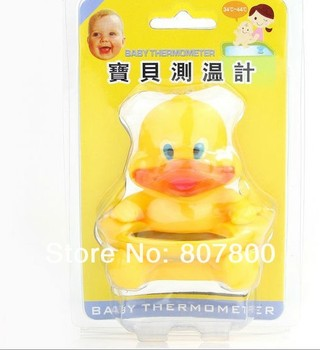 Free shippiing  Cute DUCK Bath Tub Baby Infant Thermometer Water Temperature Tester Toy Hot selling