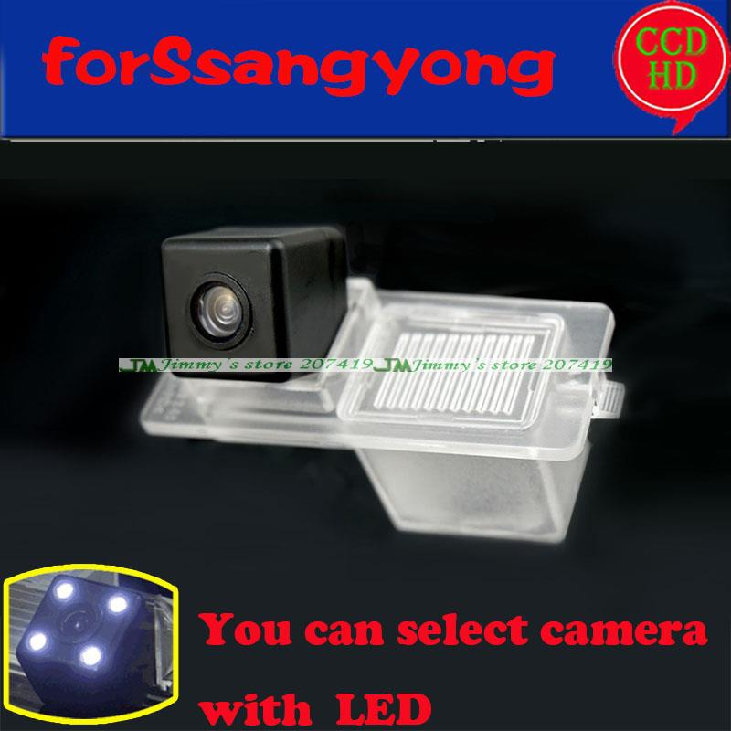 wire wireless car rear view camera for SsangYong Actyon Korando Rexton Kyron New parking camera for sony ccd LEDS night vision(China (Mainland))