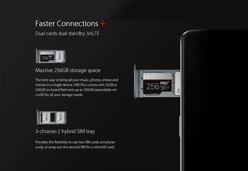 2016 original Umi Plus 4G LTE smartphone 4GB RAM 32GB ROM MediaTek Helio P10 Octa Core 5.5″ 4000Mah Front Touch ID Mobile Phone