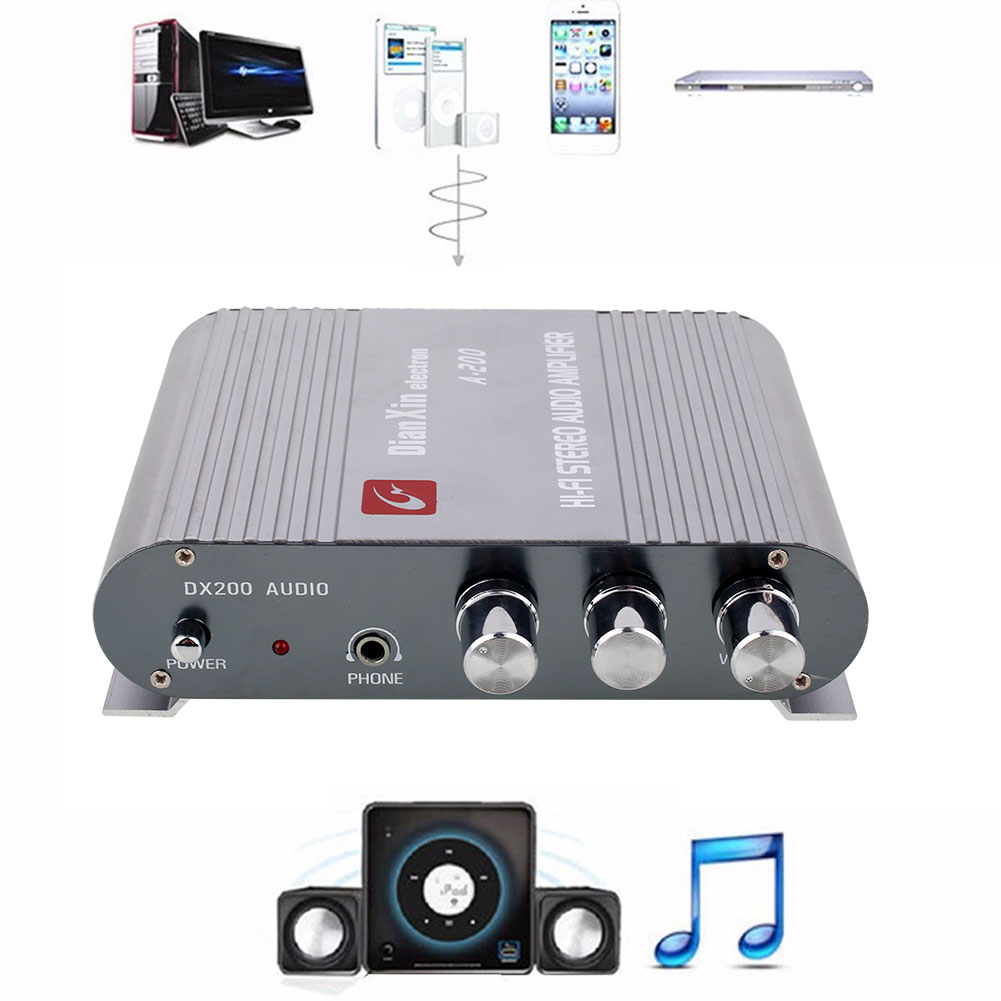 Car amplifier Car Auto Motorcycle Home Computer Audio Stereo Bass MP3 Radio Speaker Amplifier(China (Mainland))