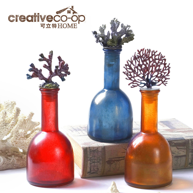 Здесь можно купить  Can litas Creative Home American country coral decorations glass bottle stoppers creative home accessories  Обувь