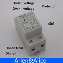 40A 230V Din rail automatic recovery reconnect over voltage and under voltage protective device protector protection relay