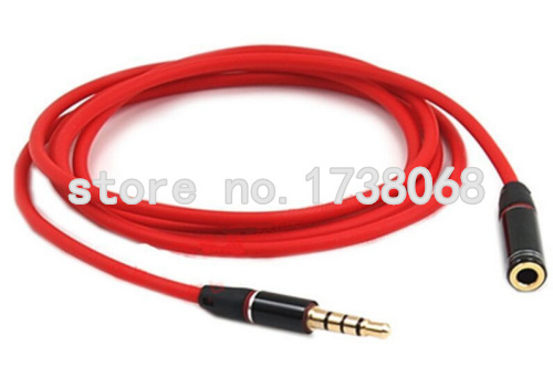 1M 3.5mm Male to 3.5mm Female Jack Stereo Audio Extension Cables For MP3 MP4 Music Player Phones(China (Mainland))