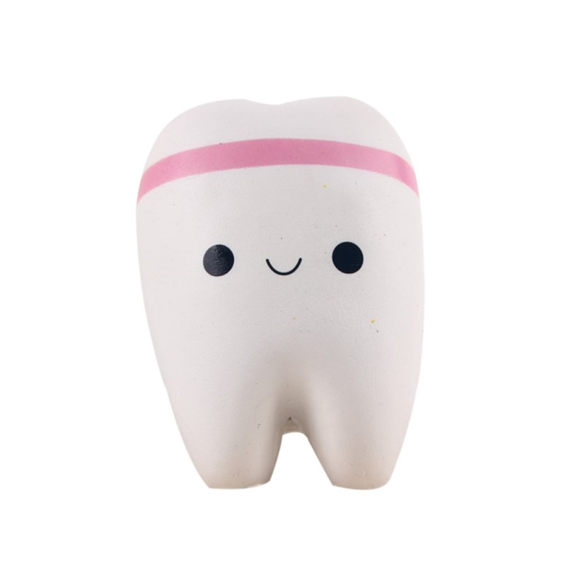 Novelty Squishy tooth Slow Rising Kawaii 11cm Soft Squeeze Cute Cell Phone Strap Toy gift Stress Toys for children(China (Mainland))