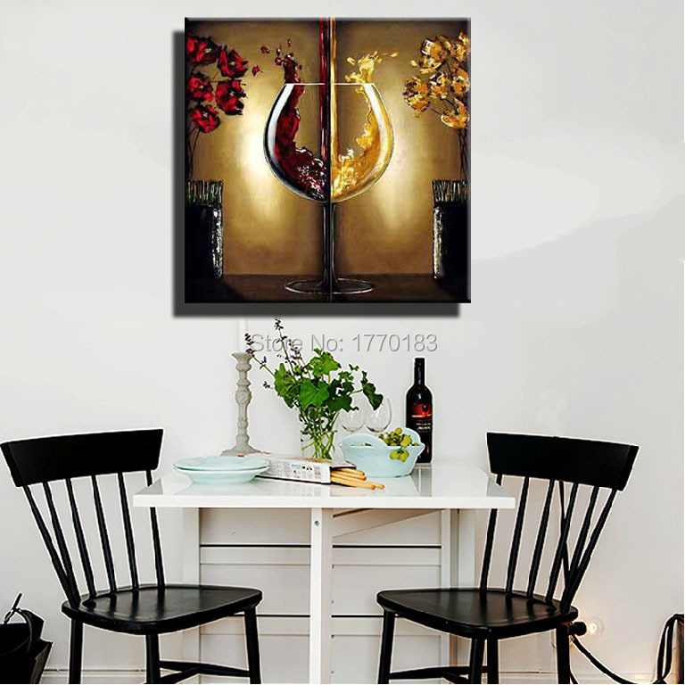 Wine wall art decorating dining room 1000 ideas about for Kitchen and dining room wall decor