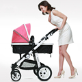 New Arrives Baby Stroller Linen Fabric High Landscape Shock Absorbing Baby Car Folding Two Way Push