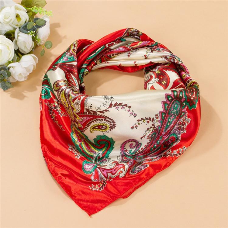 Summer Style Big Size 90x90cm Square Silk Scarves Women Fashion Brand High Quality Imitated Silk Satin Scarf Shawl Wholesale(China (Mainland))