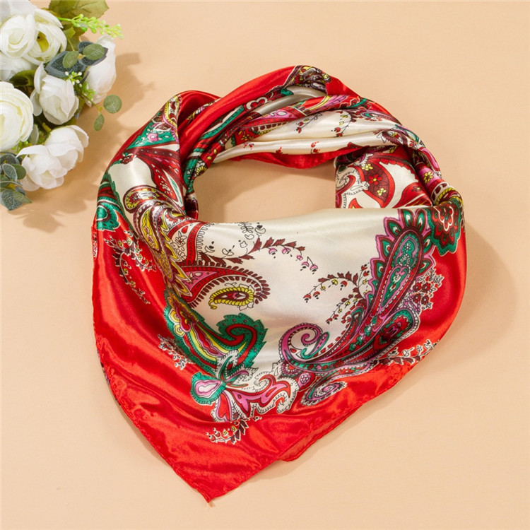Summer Style Big Size 90x90cm Square Silk Scarves Women Fashion Brand High Quality Imitated Silk Satin Scarf Shawl Wholesale(China (Mainland))