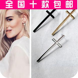 2013 magazine star cross stud earring fashion accessories