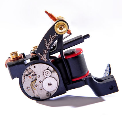 Professional Handmade Tattoo Machine Kit 10-Wrap Coils Iron Cast Frame Custom Tattoo Gun For Liner Shader Free Shipping TM-825(China (Mainland))