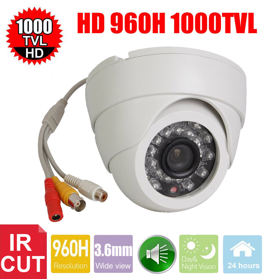 Vanxse CCTV 1/3 CMOS 1000TVL 24LEDs IR-CUT D/N Indoor Dome Audio Security Camera Microphone Surveillance Camera(China (Mainland))