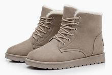 Nuevas Mujeres de la marca de Invierno botas de nieve caliente para Dama zapatos de Gamuza berber vellón de lana de cordero Felpa Corta de algodón acolchado espesan los zapatos(China (Mainland))