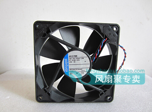 The original ebmpapst 12cm 120*120*25mm 12V 270ma 3.2W 4412 FGM two lines radiating fan<br><br>Aliexpress