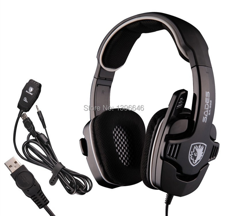 High Quality SADES SA922 3 in 1 Gaming Headset 7.1 Surround Sound Effect USB Game Headphones with Mic for PC PS3 XBOX(China (Mainland))