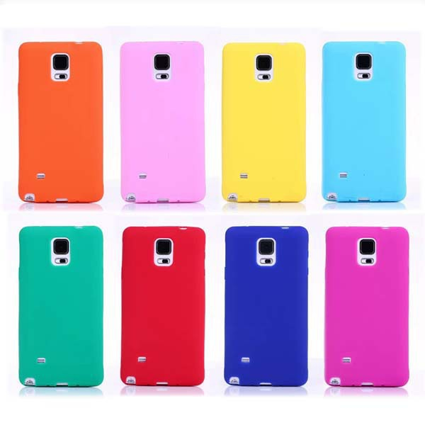 New Arrival Fashion Candy Color Case for Samsung Galaxy Note4 case Back Covers amazing Colorful Visual Effect Cell phone cases(China (Mainland))